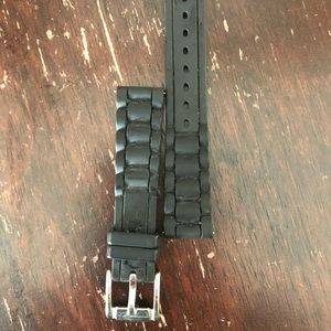 Women's Fossil Replacement Silicon Black Band